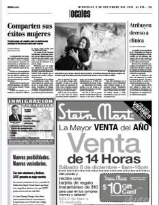 Al dia newspaper comadres story